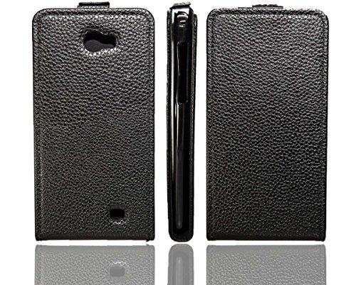 caseroxx Hülle/Tasche Flip Cover passend für Kazam Trooper 2 5.0, Schutzhülle (Handytasche klappbar in schwarz)
