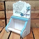 Papierrollenhalter für Toilette/ WC, maritimes Design mit Seestern