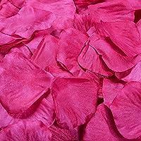JUNGEN 1000Uds Pétalos de Rosa en Seda de Rosa Natural para Decoración Bodas Fiestas Confeti Tela Artificial Petalos De Rosa (Rosa)