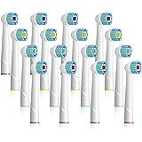 CARETIST putsborstar för oral B elektriska tandborstar kompatibel med brun oral B vitalitet 16 Stk.