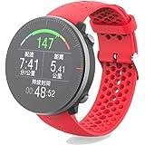 Silikon Luftl/öcher Uhrenarmb/änder Ersatz Uhrband Fitness Armband Sport Wechselarmb/änder f/ür Polar Vantage M Ersatzband Bemodst Universal 22mm Uhrenarmband