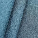 STOFFKONTOR Softshell Fleece Stoff Melange Meterware Blau