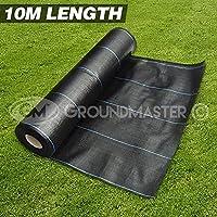 Membrana GroundMaster muy resistente para control de malas hierbas, 10 metros de longitud, incluye estacas