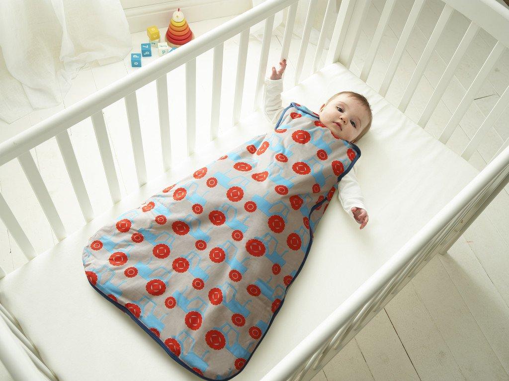 Anorak Grobag Saco de dormir para bebé con diseño de tractores, 2,5 tog, edades entre 0 y 6 meses