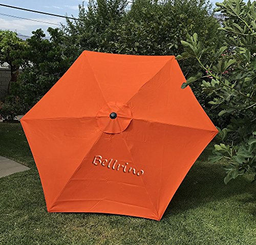 BELLRINO DECOR Ersatz & Dick Dach Himmel für 9ft 6Rippen (Himmel Nur) Tango Orange - Sage Green Coffee