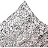 Burkina Home Decor set de 2 centros de mesa decorativos, metal, plata, 52x27x17cm y 48x23x14cm