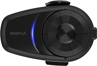 Sena 10S-01D Bluetooth-Headset und Sprechanlage für Motorräder, Dopplepack, Schwarz