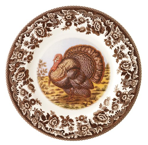Spode Woodland Turkey (Spode Woodland Turkey Salad Plates, Set of 4 by Spode)