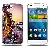 DIKAS Hülle Huawei Ascend G7 (L01 L03 C199), Silicone TPU GlitzerLuxus Slim Handytasche Hüllen Case Ultra Dünn Weich Silikonhülle Soft Transparent für Huawei Ascend G7 (L01 L03 C199) - Pic: 01