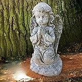 Antikas - Betende Engel Skulptur Dekoration Grab - Tiergrab Engel Figur knieender Engel