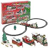 Viscio Trading 172492Zug von Weihnachten, Kunststoff, Mehrfarbig, 90x 42x 1cm