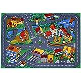Tapis circuit de jeu - petite ville - 95 x 133 cm