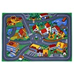 Tapis circuit de jeu - petite ville -...