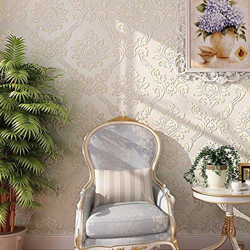 ZLYAYA Tapete,Wandtapete,Wand Dekoration,wandsticker,Im europäischen Stil selbstklebend Vlies...