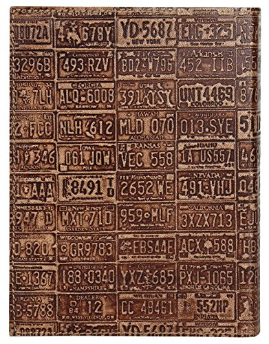 RUSTIC TOWN Refillable Handmade Vintage Antique Looking Genuine Leather Journal Diary Notebook for Men Women Gift for Him Her (Golden Brown State)