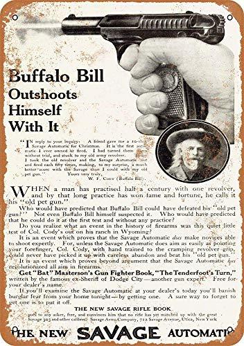 KODY HYDE Metall Poster - Buffalo Bill Movie - Vintage Blechschilder Retro Dekoration Schild Aluminium Wandkunstplakat Zum Bar Cafe Büro Pub Wohnzimmer Garage