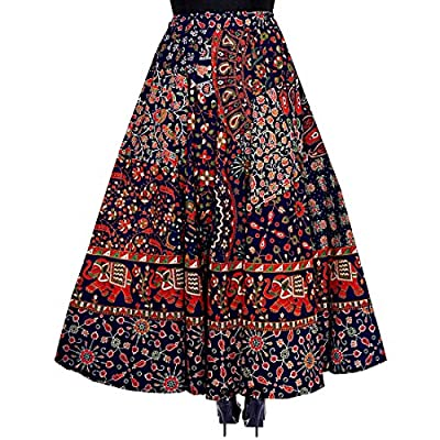 JWF Women's Cotton Wrap Around Western Wear Skirt (SK_5361, Multicolour, Free Size)
