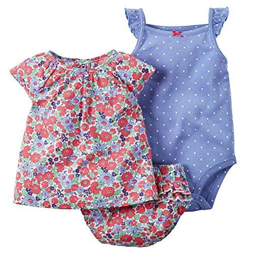 ARAUS-Baby Mädchen Bekleidung Rosa ärmelloser Strampler Kurzarm-Top und Denim-Shorts im Set Kletterkleidung Sommer Babybaumwollkleidung für Kinder 3-24 Monate