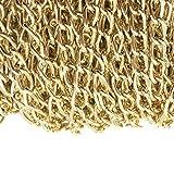 Ucatcher aluminum Curb catena in Bulk per collana accessori di gioielli fai da te making 10,1m 4.5mm larghezza, KC Gold