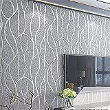 WanJiaMen'Shop 3D-geprägte Vlies Tapete Modernen Minimalistischen TV Hintergrund Wand Wohnzimmer Tapeten, B