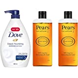 Dove Deeply Nourishing Body Wash, 800 ml And Pears Pure & Gentle Shower Gel, 250 ml (Pack of 2)