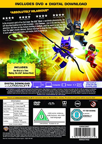 Image of The LEGO Batman Movie [DVD + Digital Download] [2017]