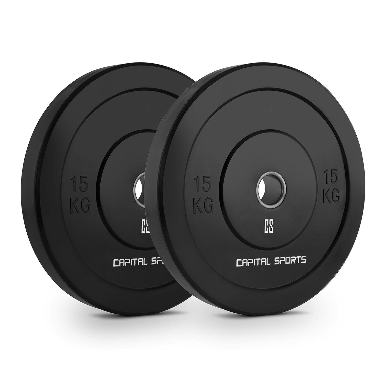 Capital Sports Bumpee 15 Coppia Dischi per Sollevamento Pesi in Gomma 2X 15 kg