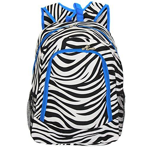 world-traveler-multipurpose-backpack-16-inch-teal-trim-zebra-one-size