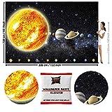 GREAT ART Papier Peint Photo de décoration motif Planètes du Système Solaire par GREAT ART336x238cm / 132.3x93.7 pouces - Papier Peint 8 Unités plus colle Incluse.