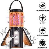 seenlast Lampada Antizanzara Elettrica, 2-in-1 Zanzariera All'aperto Luce UV Campeggio Repellente Trappola Zanzare…