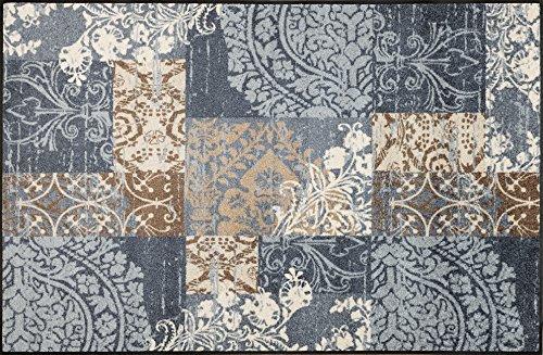 wash+dry Fußmatte, Polyester, Grau, 115 x 175 cm