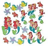 Unbekannt 24 tlg. Set 3-D Wandtattoo / Sticker - Arielle - Moosgummi Kind für Kinder Kinderzimmer Wandsticker Meerjungfrau Aufkleber auch zum Basteln und Dekorieren