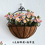Dekorative Blumen - Simulation Inneneinrichtungsgegenstände Room Interior Anhänger Blumen,Seetang - Korb Pulver Daisy
