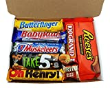 Heavenly Sweets - Mini Cesta Chocolate Americano Surtido Bala/ Chocolate/Caramelo Navidad/Regalo Cumpleaños - En una Caja de Regalo del Caramelo Retro