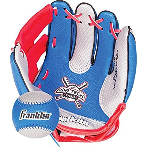 Franklin Sports Air Tech Soft Foam Baseball Glove and Ball Set For Kids-Youth by Franklin Sports
