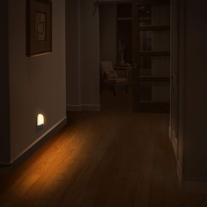 zuoshini Luz Nocturna Infantil Lampara Nocturna Enchufe L/ámpara de Noche Ni/ños Luz de Noche Estrella LED con Sensor de Luz Autom/ático para Habitaci/ón Beb/é Dormitorio Sala Pasillos