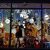 Natale Adesivi Display Rimovibile Natale Addobbi Murali Fai da te Finestra Decorazione Vetrina Adesivi e murali da parete Sticker decorativi ( 2 fogli X 30 * 90cm ) (B)