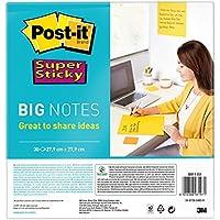 Post-it Super Sticky BN11-EU - Notas formato grande, 4XL, 30 hojas, 27.9 cm x 27.9 cm, color amarillo