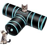 Donghoodshop Juguetes Gatos Tunel Gato Pet Tunnel 3 Way Crinkle Tubo Plegable Toy Túnel con Tres vías Túnel Juego para Gatos,