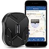 Localizador GPS para Coche, GPS Coche en Tiempo Real Impermeable Rastreador GPS,Fuerte Imán GPS Tracker para Vehículos con Gr