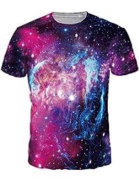 abb31b531 EmilyLe Hombre 3D Graphic Print Camisetas Moda Manga Corta Tees Round Neck Top  Camisa