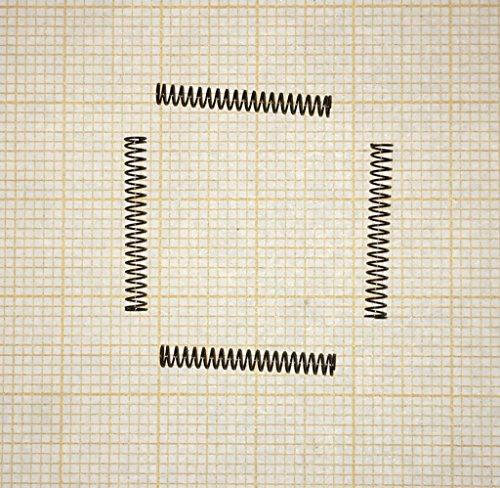 4x Druckfeder, klein, Länge 18mm, Außen Ø2,2mm, Drahtstärke 0,2mm - (22-53) (O2 Mini)