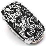 Schlüssel Hülle VA für 3 Tasten Auto Schlüssel Silikon Cover von Finest-Folia (.Abstrakt)
