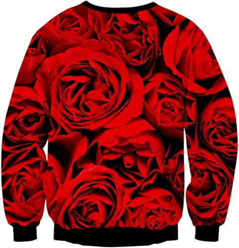 Pizoff Unisex Hip Hop Sweatshirts mit Bunt 3D Digital Printing Muster Y1759-92