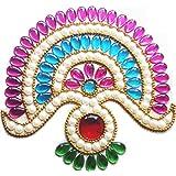 Aabhaas Acrylic Handcrafted Decorative Kundan Rangoli Set (12 Cm X 12 Cm, Set Of 2)