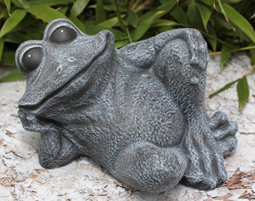 steinfigur-frosch-sitzend-steinguss-schiefergrau