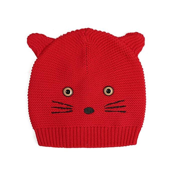 Zoerea Baby Winter Hüte Kinder Mädchen Jungen Warme Baumwolle Haube Mützen Hund Strickmütze Hüte(0-36Monate)