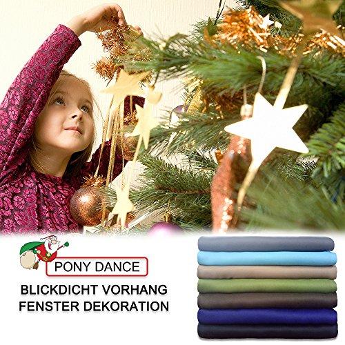 Vorhang blickdicht Vorhänge Isolierte Vorhänge – PONY DANCE 175 x 140 cm (H x B), Grau 2 Stücke Verdunkelungsvorhänge mit Ösen, Energiespar & Wärmeisolierend, Einfacher und Moderner Stil für Schlaf und Wohnzimmer - 8