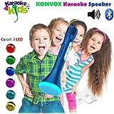 Micrófonos Inalámbrico Karaoke para Niños. Micrófono Bluetooth Portátil con Altavoz y Funcionamiento con Batería, Micro para Cantar y Hacer Fiestas Entre los Amigos con Teléfonos Inteligentes Android iPhone/iPad/Smartphone/PC- by KOMVOX (azul)