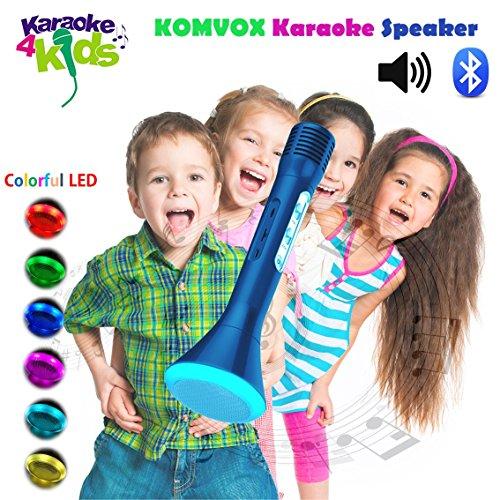 Drahtlose Mikrofon Kinder Karaoke Singen Maschine mit integrierten Bluetooth coolen Echo Lautsprecher, Prime Blue Prince Design, kreative Geburtstag Musik Geschenke Elektronik Spielzeug für Jungen, Teenager singen Disney Songs